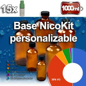 Base personalizable NicoKits 1000ml nicotina 0 a 3mg