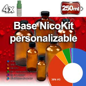 Base personalizable 50PG/50VG 250ml nicotina 0 a 3mg